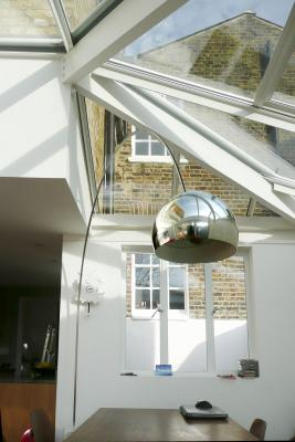 - marchini-architecture.com, - Clapham, - rear extension, - glass roof, - garden room, - Crittall windows, - patent glazing