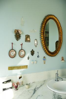 - marchini-architecture.com, - Clapham, - bathroom detail, - quirky bathroom decoration, - vintage bathroom decoration