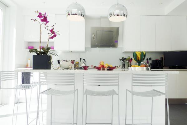 - marchini-architecture.com, - Clapham, - contemporary kitchen, - white kitchen, - kitchen extension, - kitchen island