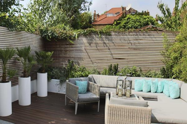 - marchini-architecture.com, - Putney, - loft extension, - basement extension, - rear extension, - front extension, - contemporary cottage, - contemporary garden,- garden sofa