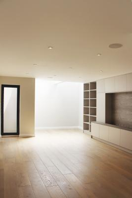 - marchini-architecture.com, - basement extension, - basement skylight, -basement lightwell, - den, - TV room joinery, - Putney
