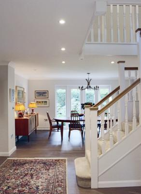 - marchini-architecture.com, - Woking, - extension, - open staircase, - open living dining