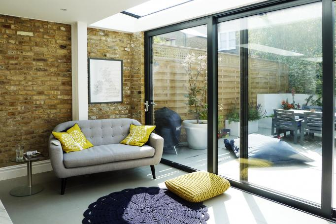 - marchini-architecture.com, - Balham, - rear extension, - side extension, - internal brick wall, - sliding doors, - vintage furniture