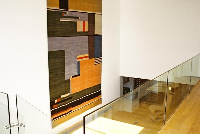 - marchini-architecture.com, - Barnes, - basement extension, - glass railing, - contemporary staircase, - modern wall hanging