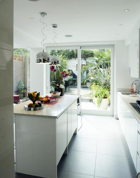 - marchini-architecture.com, - Clapham, - contemporary kitchen, - white kitchen, - kitchen extension, - side extension