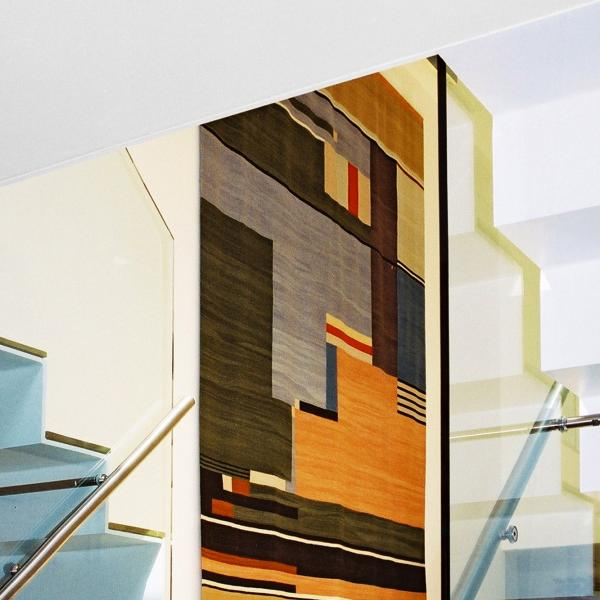 - marchini-architecture.com, - Barnes, - basement extension, - glass railing, - contemporary staircase