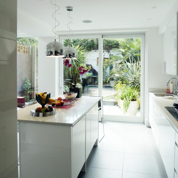 - marchini-architecture.com, - Clapham, - contemporary kitchen, - white kitchen, - kitchen extension, - side extension