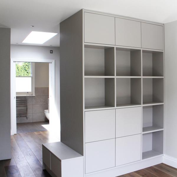 - marchini-architecture.com, - dressing room, - dressing room joinery, - shelves, - Putney